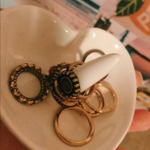 Heart shaped ring holder ( rings included)